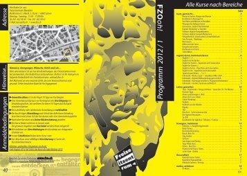 Programm 2012 / 1 - Freizeitzentrum OW