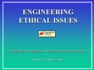 engineering ethical issues - Foundation Performance Association