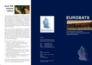 Das Abkommen zur Erhaltung der europäischen ... - Eurobats