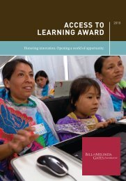 Access to leArninG AwArd - Bill & Melinda Gates Foundation