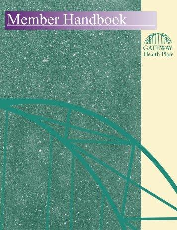Member Handbook - Gateway Health Plan