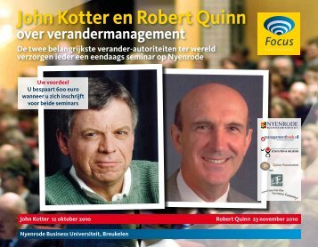 John Kotter en Robert Quinn - Focus Conferences