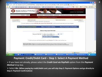 Credit/Debit Card - Florida Institute of Technology