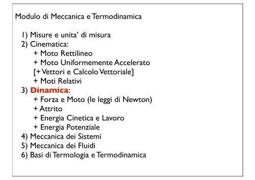 + Moto Rettilineo + Moto Uniformemente Acceler - Fisica