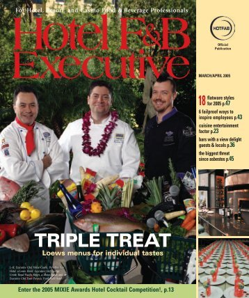 Hotel F&B Executive - Fred Tibbitts & Associates