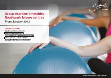 Group exercise timetables Southwark leisure centres - Fusion Lifestyle