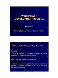 China Wind Energy Development