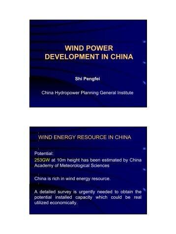 China Wind Energy Development