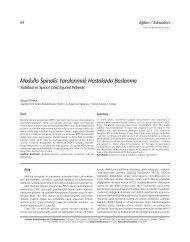 Medulla Spinalis Yaralanmal› Hastalarda Beslenme - FTR Dergisi