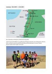 Jordanien 05.10.2011 – 15.10.2011 - FuenfSeenradler
