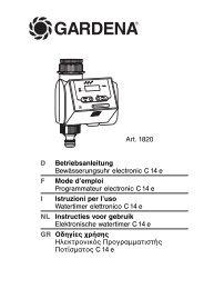 OM, Gardena, Programmateur electronic T 14 e, Art 01820-20, 2009 ...