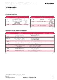 Technische Informationen zu Kunststoff-Armaturen - Frank GmbH
