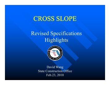 Cross Slope - David Wang