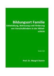 Bildungsort Familie - Université de Fribourg
