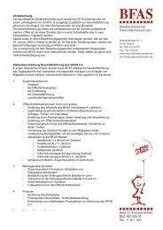 Vorbemerkung Die nachfolgende Stellenbeschreibung ist ... - BFAS