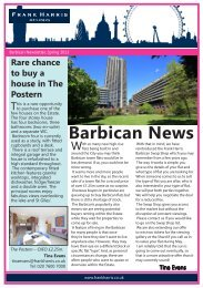Barbican Newsletter, Spring 2013 - Frank Harris and Company