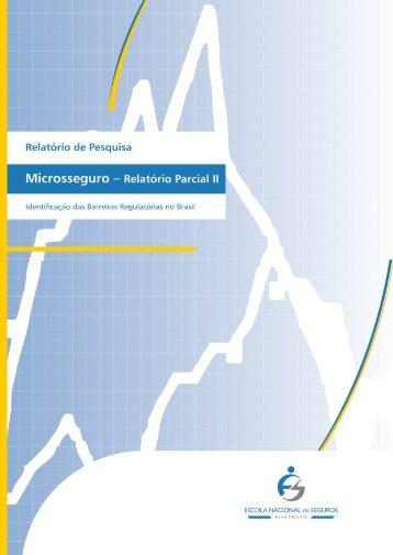 Microsseguro – relatório parcial II - Escola Nacional de Seguros