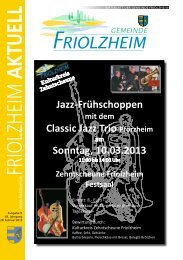 Blättle KW 9 - Friolzheim