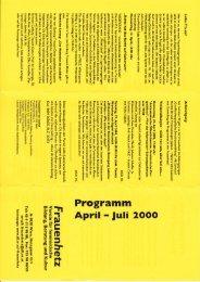 April-Juli 2000 - Frauenhetz