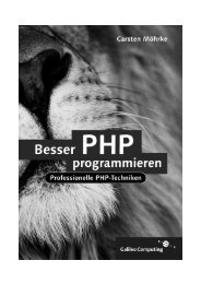 Besser PHP programmieren, 2. Auflage - Galileo Computing