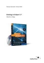 Einstieg in Eclipse 3.7 (PDF) - Galileo Computing