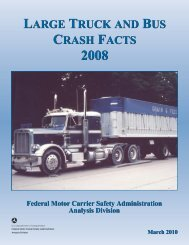 Large Truck and Bus Crash Facts 2008 - Federal Motor Carrier ...