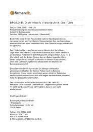 BPOLD-B: Dieb mittels Videotechnik überführt - Firmendb