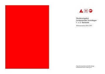 Grafikdesign Handout 1+2 Semester - Freie Hochschule Freiburg