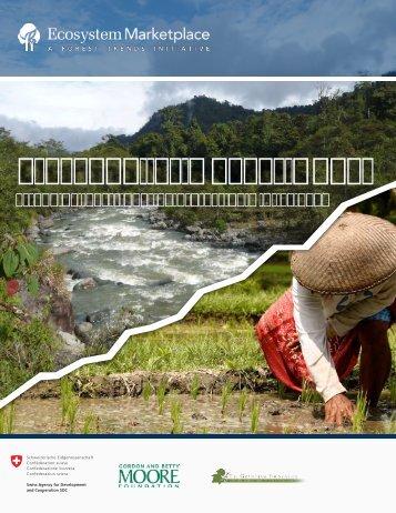 Estado de Inversiones en Protección Hídrica 2012 - Mercados ...