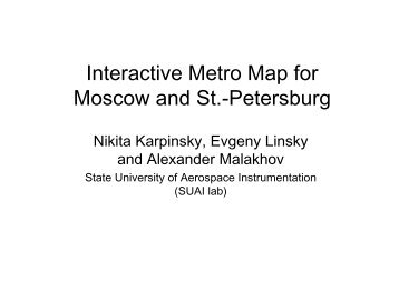 Interactive Metro Map for Moscow and St.-Petersburg - FRUCT