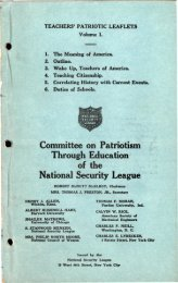 Committee on Patriotism Through Education of the National Security ...
