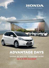 ADVANTAGE DAYS - Honda