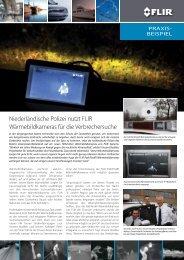 Niederländische Polizei nutzt FLIR Wärmebildkameras - Flir Systems