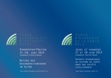 Programme - Forum Gesundheitswirtschaft Basel