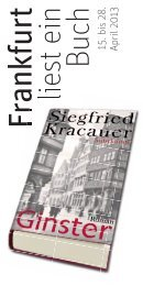 Veranstaltungsprogramm 2013 - Frankfurt liest ein Buch