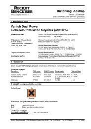 VANISH DualPower Transparent(REACH) - Galatea Kft.