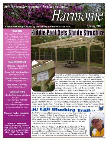FHSP Spring 2013 Newsletter - Friends Of Harmonie State Park