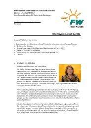 Oberbayern Aktuell 1/2012 - Freie Wähler Oberbayern
