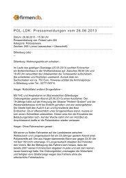 POL-LDK: Pressemeldungen vom 26.06.2013 - Firmendb