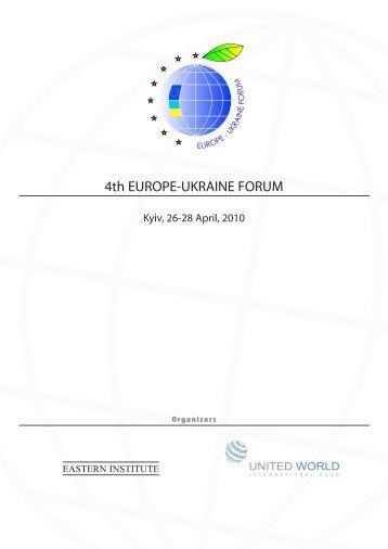 4th EUROPE-UKRAINE FORUM - Forum Ekonomiczne