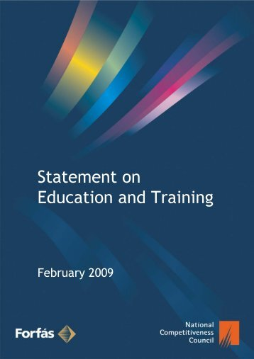 NCC Statement on Education and Training - Forfás