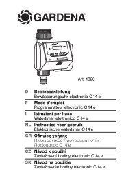 OM, Gardena, Zavlažovací hodiny electronic C14e, Art 01820-20 ...