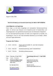 Einladung 25. April 09 Olten