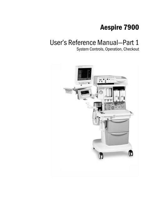 Datex Ohmeda Aespire 7900 Anaesthesia Machine User
