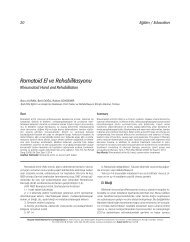 Romatoid El ve Rehabilitasyonu - FTR Dergisi