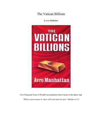 The Vatican Billions - Germanophobia.net