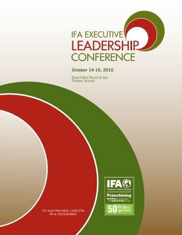 October 14-16, 2010 - International Franchise Association