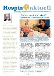 Hospiz aktuell Dezember 2012 - Förderverein Hospiz Rendsburg eV