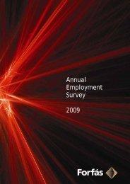 Annual Employment Survey 2009 - Forfás