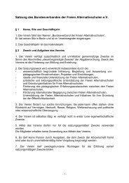 Satzung des Bundesverbandes der Freien Alternativschulen - BFAS